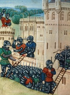 Siege of Blaye from BL Royal 20 C IX, f. 227v by Jean Chartier, 1475 - 1499. The British Library, Public Domain