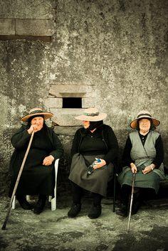Three women of Galicia, Spain