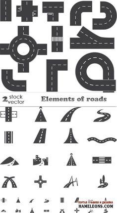Элементы дороги, дорога - Векторный клипарт | Roads vector Paper Crafts Origami, Cardboard Crafts, Vinyl Crafts, Infant Activities, Activities For Kids, Construction Theme Preschool, Transportation Theme, Paper Models, Paper Toys