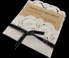 Paper Lace Wedding Invitations with pocket  by InvitationsbyTango, $7.50