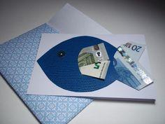 Karte für Geldschein in Fischform http://www.expli.de/anleitung/fisch-geldkarte-5469/