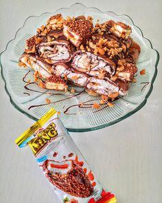 Kinder Maxi King palacsinta – Cake by fari Waffles, Pancakes, Cake Cookies, Good Food, Food And Drink, Sweets, Breakfast, Recipes, Drinks