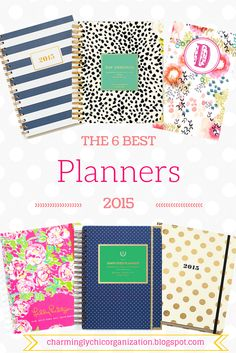 The 6 Best Planners: 2015 ughhh these are all so cute!
