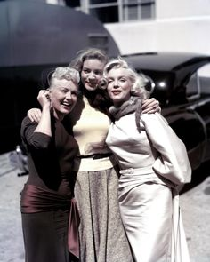 Betty Grable, Lauren Bacall and Marilyn Monroe pose for a portrait on the set of romantic comedy ''How To Marry A Millionaire'' in 1953.