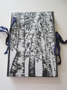Hand bound Sketchbook with Hand Printed cover