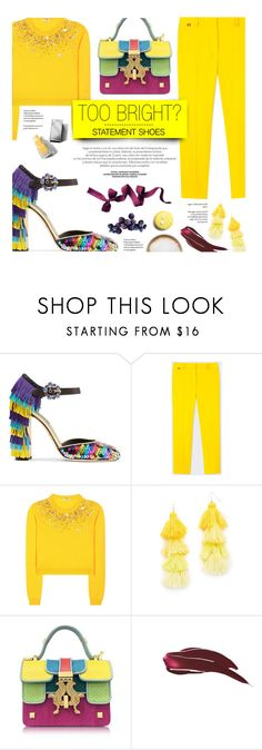 """Too bright: Statement Shoes"" by federica-m on Polyvore featuring Dolce&Gabbana, Paul Smith, Miu Miu, Misa, Giancarlo Petriglia, Caffé, Burberry, yellow, dolceandgabbana and miumiu"