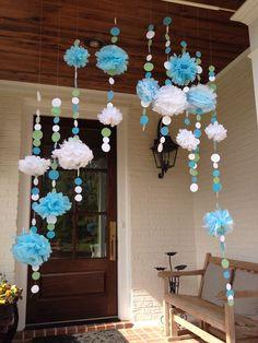 Baby Shower Decor: Ikebana Flower Arrangement, Flower Arrangements, Baby Shower Themes, Baby Shower Gifts, Sunshine Baby Showers, Office Birthday, Balloon Crafts, Baby Shawer, Frozen Theme