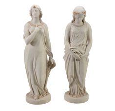 Par de estatuas em Parian do sec.19th, 58cm de altura, 4,485 USD / 4,120 EUROS / 15,550 REAIS / 27,860 CHINESE YUAN soulcariocantiques.tictail.com