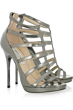 Jimmy Choo Estoria Patent Leather Cage Sandals...I need to win the lottery so I can stock up on these