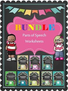 Parts of Speech Worksheet Bundle. By Fun Brainy Days. Parts Of Speech Worksheets, Common And Proper Nouns, Teacher Resources, Teaching Ideas, Grammar Activities, Thing 1, Upper Elementary, Phonics, Lesson Plans