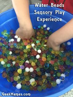 Water Beads Make for a Fun Sensory Play Experience ⋆ Geek Mamas Water Beads, Sensory Play, Literacy Centers, How To Make Beads, Biodegradable Products, Geek Stuff, Fun, Geek Things, Water Pearls