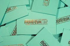 beautiful business cards designed by buro uhfo for montreux cafe