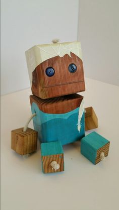 Elsa - wood toy, natural wood, wood robot, DIY toy #woodtoy