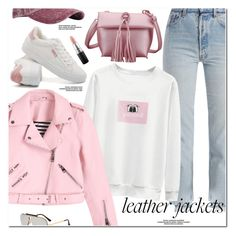 """""""Leather Jackets"""" by oshint ❤ liked on Polyvore featuring Vetements and MAC Cosmetics"""