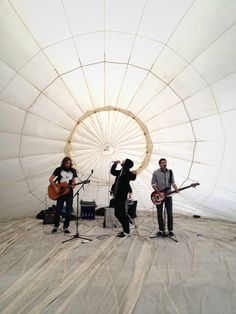 The Don't Touch My Croque Monsieurs perform in the mind igloo