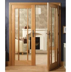 3 lite glass door in select walnut contemporary for Double glazed internal french doors