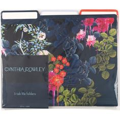 Cynthia Rowley File Folders, 3 Tab, Assorted Floral, 6/Pack (43615) | Staples