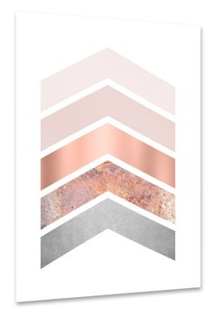 Shades of blush pink and copper chevrons