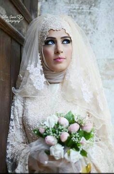 Hijabi bridal #MuslimWedding, www.PerfectMuslimWedding.com