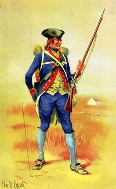 Third New Jersey Regiment, 1777 Continental Line.