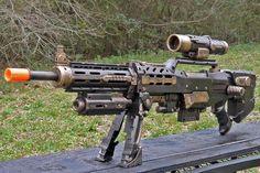 """HADES"" extended range rifle MkIIIc (Nerf Longshot CS-6) | by Time Gypsies"