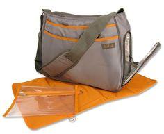 Trend Lab Ultimate Diaper Bag, Gray/Orange #TrendLab