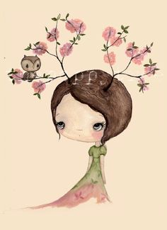 Art print by the poppy tree