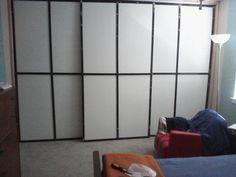 DIY sliding closet doors-master did not have a