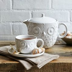 West Elm: Owl Teapot and Owl Tea cup