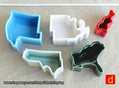Tableware - USA - West 3d printed Collect all 5. Pick the same material or choose a different one for each.