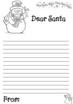 Free online Print out christmas letter to santa write template for ...