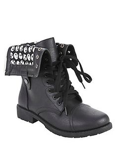 Spooky Boots // The Nightmare Before Christmas Jack Heads Combat Boot