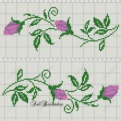Cross Stitch Cards, Cross Stitch Borders, Cross Stitch Rose, Cross Stitch Flowers, Cross Stitch Patterns, Embroidery Patterns, Crochet Patterns, Hand Embroidery, Filet Crochet