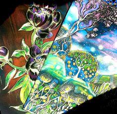 Peonies/Forest A/4 Zselés toll, pasztell Nikodém Mónika MNikodem Art