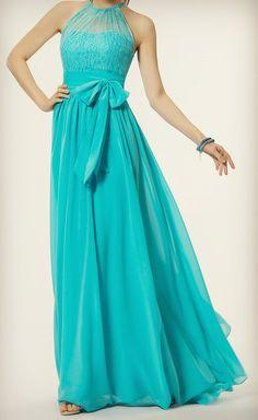 #Turquoise evening dress