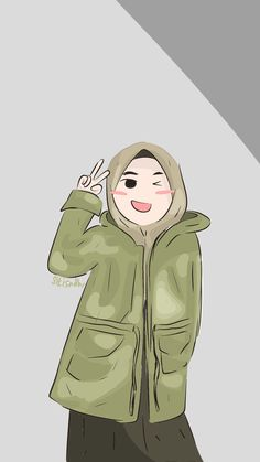Book Cover Background, Hijab Drawing, Islamic Cartoon, Hijab Cartoon, Girl Hijab, Mode Hijab, Printable Stickers, Islamic Art, Muslim