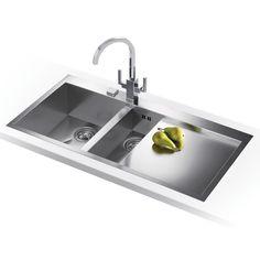 Franke PLANAR SLIM-TOP PPX251 RHD - Planar Slim-Top 1.5 Bowl Sink Right Hand Drainer | Appliance City
