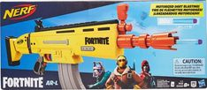 Play Fortnite in real life with this Nerf Elite blaster that features motorized dart blasting. Power up the motor with the acceleration button and pull the trigger to shoot 1 dart. Flip up the 2 sights on the top of the blaster to align your shot. Nerf Gun, Zuma Paw Patrol, Nerf Darts, Hand Cannon, Nerf Toys, Tactical Shotgun, Epic Games, Age, Domingo
