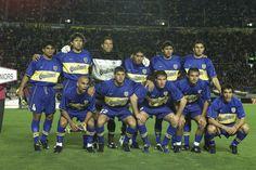 FUTBOL. 2000. Equipo de #Boca que venció al Real Madrid en la final Intercontinental.