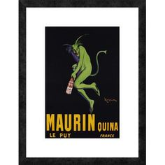 "Global Gallery 'Maurin Quina, ca. 1906' by Leonetto Cappiello Framed Graphic Art Size: 26"" H x 20"" W x 1.5"" D"