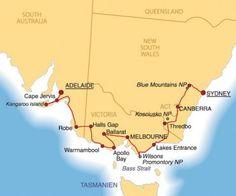 Begleitete Wohnmobilreisen durch Australien, Neuseeland, Afrika, Island und Schottland   Australien   Reisebeschreibungen   Australiens Vielfältigkeit im Süden