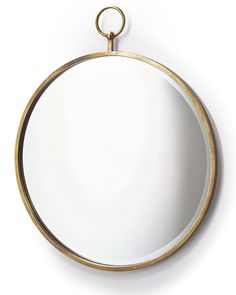A quirky large round copper mirror in a fob watch style. Makes an eye-catching wall mirror for hanging as a hallway mirror, or in a living room, bedroom or bathroom. Hallway Mirror, Window Mirror, Round Wall Mirror, Round Mirrors, Copper Mirror, Copper Frame, Extra Large Wall Mirrors, Decorative Mirrors, Industrial Mirrors