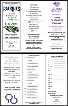 Registration form for A Round to Remember