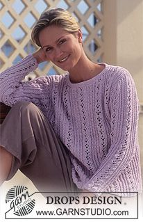 Women - Free knitting patterns and crochet patterns by DROPS Design Ladies Cardigan Knitting Patterns, Aran Knitting Patterns, Lace Knitting, Knit Patterns, Finger Knitting, Knitting Tutorials, Drops Design, Drops Patterns, Summer Knitting
