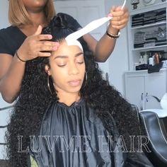 19 Trendy hair tutorial videos half up Black Girls Hairstyles, Trendy Hairstyles, Wig Hairstyles, Medium Hairstyles, 360 Lace Wig, Lace Wigs, 360 Wig, Wig Styles, Curly Hair Styles