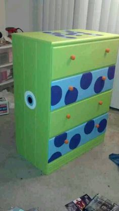 We painted a hand me down dresser for the boys room to look like ...