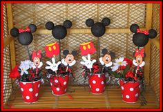 Mickey Mouse Party Supplies | Mickey Mouse Birthday Decorations Set of 4 by RaeofSunshinedesign