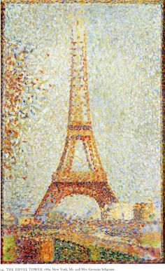 """Georges Seurat, """"The Eiffel Tower,"""" 1889, oil on wood"""