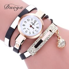Cheap gifts korean, Buy Quality clock lamp directly from China gift Suppliers: Relogio Feminino Woman Watches 2017 Brand Luxury Watch PU Leather Bracelet Quartz Dress Clock montre femme marque de luxe Bracelet Cuir, Bracelet Watch, Cuir Vintage, Vintage Mode, Durable Watches, Women's Dress Watches, Wrist Watches, Gold Bracelet For Women, Leather Bracelets