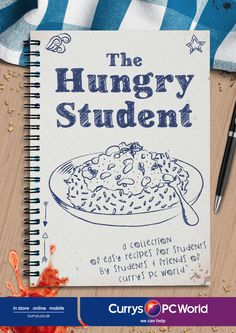'The Hungry Student' cookbook by @curryspcworld. Download 'The Hungry Student' cookbook for FREE here: http://go.currys.co.uk/ThSCb #student #recipes #cookbook @curryspcworld